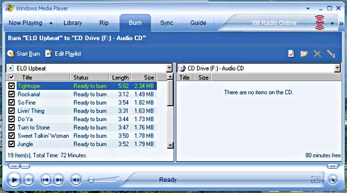 Create Your Own Music CDs with Windows Media Player
